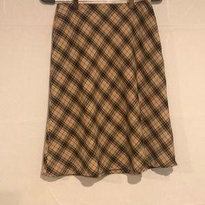 Worthington Plaid A Line Skirt Size 6